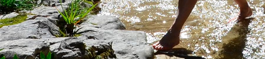 Foto von Füßen am Flussufer